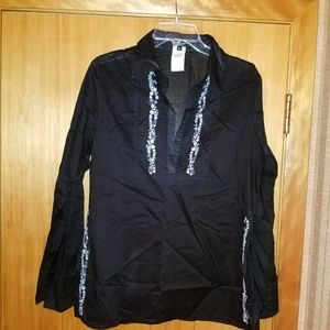 Karen Kane vintage sheer tunic